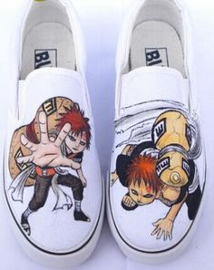 Naruto Gaara Anime Hand Painted Shoes for men women 9cf244f9e2ef