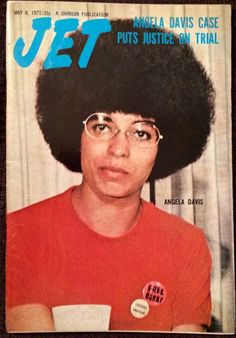 Angela Davis on the cover of JET magazine, May 1971 Jet Magazine, Black Magazine, Women In History, Black History, African History, World Book Encyclopedia, Black King And Queen, Angela Davis, Black Panther Party