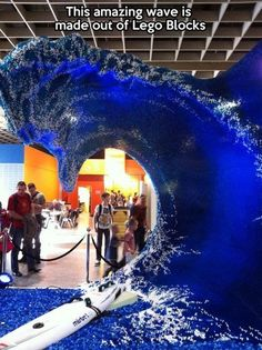 A wave made out of Lego Blocks!