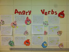 """Angry Verbs"" from Super Sweet Second Grade.  A motivating brainstorming activity on ""action verbs.""  How about action verbs about being angry or frustrated:  stomp, glare, yell?"
