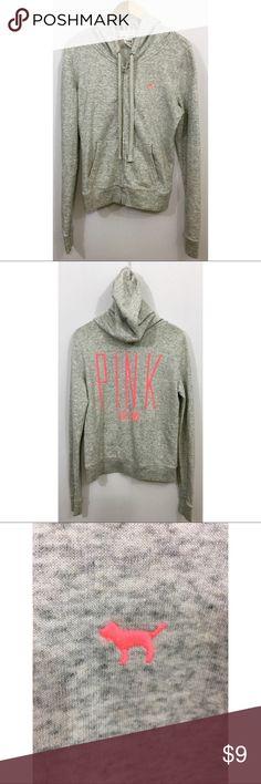 VS Pink Hooded Zip Sweatshirt VS Pink Hooded Zip Sweatshirt PINK Victoria's Secret Tops Sweatshirts & Hoodies