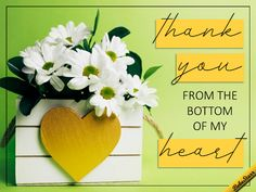 Send a lovely springtime thank you. Free online From The Bottom Of My Heart ecards on Spring Appreciation Quotes Relationship, Appreciation Quotes For Him, Thank You Messages Gratitude, Thank You Greetings, Thank You Pictures, Thank You Images, Thank U Quotes, Thank You Ecards, Love Smiley