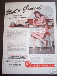 1940's maytag fridge | Wartime Meal Planning Alan Foster Art (1942)