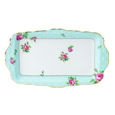 Polka Blue Formal Vintage Sandwich Tray