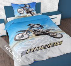 Sleeptime Dekbedovertrek - Kinder - Racing Motorbike - 140 x 200-220