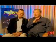 This made me laugh so hard!  Leonard Nimoy and William Shatner - love these two cut ups...too cute. :)