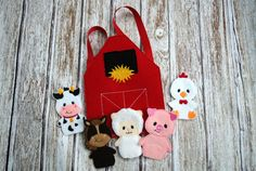Barn Yard Finger Puppets by FanatiCrafts on Etsy