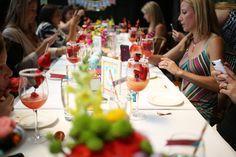 Guests enjoying dessert. #HuggiesBabyShower