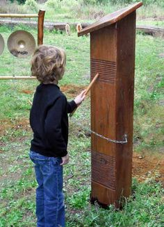 outdoor installation to promote experimentation at an early age.   I would love this all around the yard when i have a house!