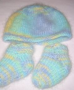 Easy Knitted Charity Baby Booties Baby...Preemie Knit ...