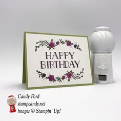 Make this pretty birthday card made with the Big On Birthdays stamp set from Stampin' Up! #stampcandy
