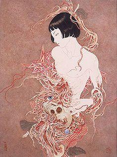"""山本タカト Yamamoto Takato (1960 - )""""Necro-Phantasmagoria"""""""