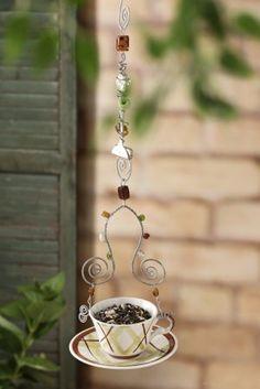 DIY Teacip Bird Feeder                                                                                                                                                                                 More