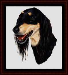 Saluki - Cross Stitch Collectibles fine art counted cross stitch pattern