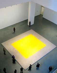 MM - The bold yellow center is a way of representing a strong core. Wolfgang Laib, Op Art, Modern Art, Contemporary Art, Ephemeral Art, Yellow Art, Inspirational Artwork, Exhibition Space, Process Art