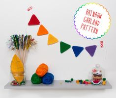 Rainbow garland pattern by I am a Mess