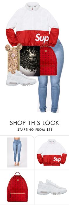 """Supreme Outfit"" by zyriajones ❤ liked on Polyvore featuring Champion, MCM and NIKE"