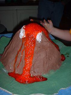 Erupting Paper Mache Volcano