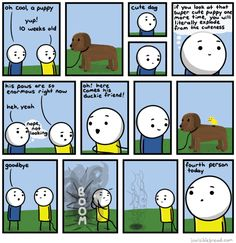 Can't handle the cuteness! | Read Invisible Bread #comics @ www.gocomics.com/invisible-bread/2015/06/01?utm_source=pinterest&utm_medium=socialmarketing&utm_campaign=social-pin | #GoComics #webcomic #dogs #puppy