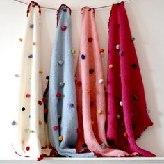 Blanket with Crochet Bobbles by rocketandbear on Etsy, £45.00