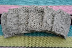 Boot Cuffs-Free Patterns 3 free patterns for boot cuffs. 2 knit and 1 crochet. It's my first attempt at a knit patterns. The patterns are mainly basic skills in knit and easy to intermediate for the crochet patter… Crochet Boot Cuff Pattern, Knitted Boot Cuffs, Crochet Boots, Knit Or Crochet, Knitted Slippers, Free Crochet, Loom Knitting, Knitting Socks, Knitting Patterns Free