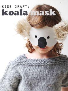 Kids Craft: Koala Mask with Template - MyPoppet.com.au