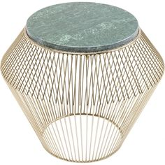 Table d'appoint beam marbre vert kare design or Kare Design Retro Side Table, Round Side Table, Kare Design, Copper Bar Stools, Consoles, Cream Table Lamps, Large Vintage Wall Clocks, Silver Table, Brass Lamp