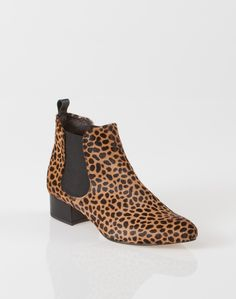 1.2.3 Paris - Les accessoires automne hiver 2014 - Bottines en cuir imprimées léopard Ophelie 129€ #123paris #mode