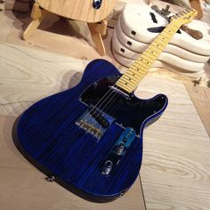 Our new blue sapphire limited edition sandblasted #Telecaster is available for purchase! #FenderNAMM #NAMM Would you like to own this one?