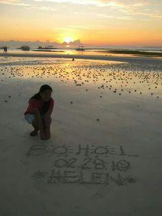Sunrise in Dumaluan Beach, Bohol.