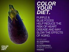 color your diet. purple & blue.