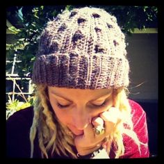 Crochet bobble beanie by RusticValley on Etsy, $32.00