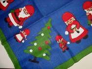 Retro Christmas danish textile Christmas tree carpet - 1970es. Material is jute. 98 x 98 cm.  #retro #danish #christmas #textile #1970 #dansk #jul #tekstil #juletraestaeppe