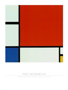 Composition with Red Blue Yellow Art Print by Mondrian, Piet 60 X Wall for sale online Yellow Print, Framed Art Prints, Blue Yellow, Red And Blue, Piet Mondrian, Composition, Abstract Painters, Poster, De Stijl