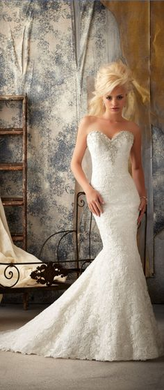 i think i have fall in love with this mermaid wedding dresses lace wedding dresses