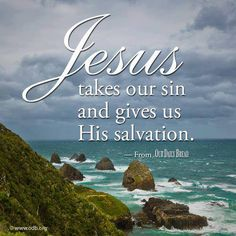 The sins of the world were laid upon the Lamb of God for our redemption....Glory!