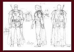 Berserk model sheet of Guts from the movies Berserk made by Studio 4°C