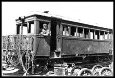 THE OKINAWA RAILROAD -- Sgt Roy S. Merwin of Pittsburgh Pa. Takes Command of an Old Trolley Car in Naha -- 1945 by Okinawa Soba, via Flickr