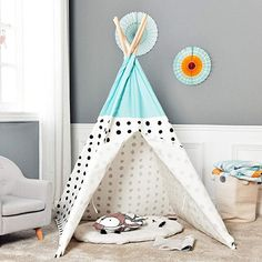 Asweets Kids Teepee Tent for Kids Boys & Girls - Kids Play Tent - Kids Tent Indoor - Baby Teepee Tent - Play Teepee Tents for Kids - Tipi Tent Kids (Blue Little Bear) Teepee Play Tent, Kids Teepee Tent, Diy Tent, Tent House For Kids, House Tent, Canvas Teepee, Outdoor Play, Indoor Outdoor, Kids Playing