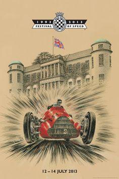 Festival of Speed, Goodwood - alfa romeo Grand Prix, Motorcycle Posters, Car Posters, Alfa Romeo Logo, Roadster Car, Vintage Race Car, Vintage Auto, Racing Events, Goodwood Festival Of Speed