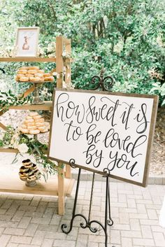 Yeah how cute it is Donut display for the wedding party of Carmen and Seth in