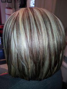 Blonde highlight/ Angle bob/ Styles Unlimited Salon