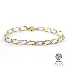 Bi Colour Bracelet Comprising Forty Four Clear Stones
