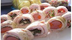 Fotorecept: Kuracie rolády Appetizer Recipes, Appetizers, Sushi, Ethnic Recipes, Food, Meal, Essen, Hoods, Appetizer