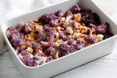 Cavolfiore viola al forno ricetta