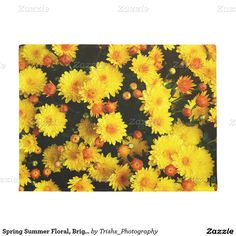 Spring Summer Floral, Bright and Beautiful Doormat