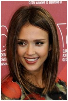 Long Bob Hairstyles With Side Swept Bangs : Jessica Alba Hair Long Bob