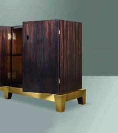 Promemoria I Wardrobe I Furniture I Gold I Wood I Design I Craftmanship