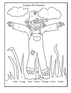 This is a simple scarecrow that is a colour by number in FRENCH! Can be used for both a fall theme or for Halloween. Appropriate for grades for both Core and Immersion French. Halloween Color By Number, French Numbers, Dotted Page, Kindergarten Art Projects, Core French, Halloween Coloring Pages, Teaching French, France, Autumn Theme