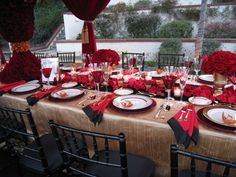 Bold Red Tablescape